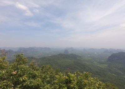 Výhled z Viewpointu v Tab Kak Hang Nak Nature Trail
