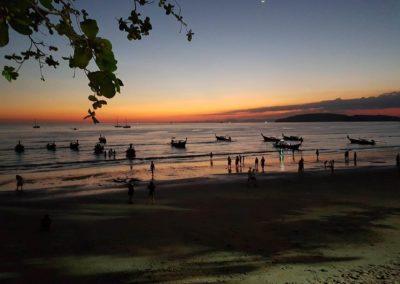 Západ slunce na Ao Nang Beach