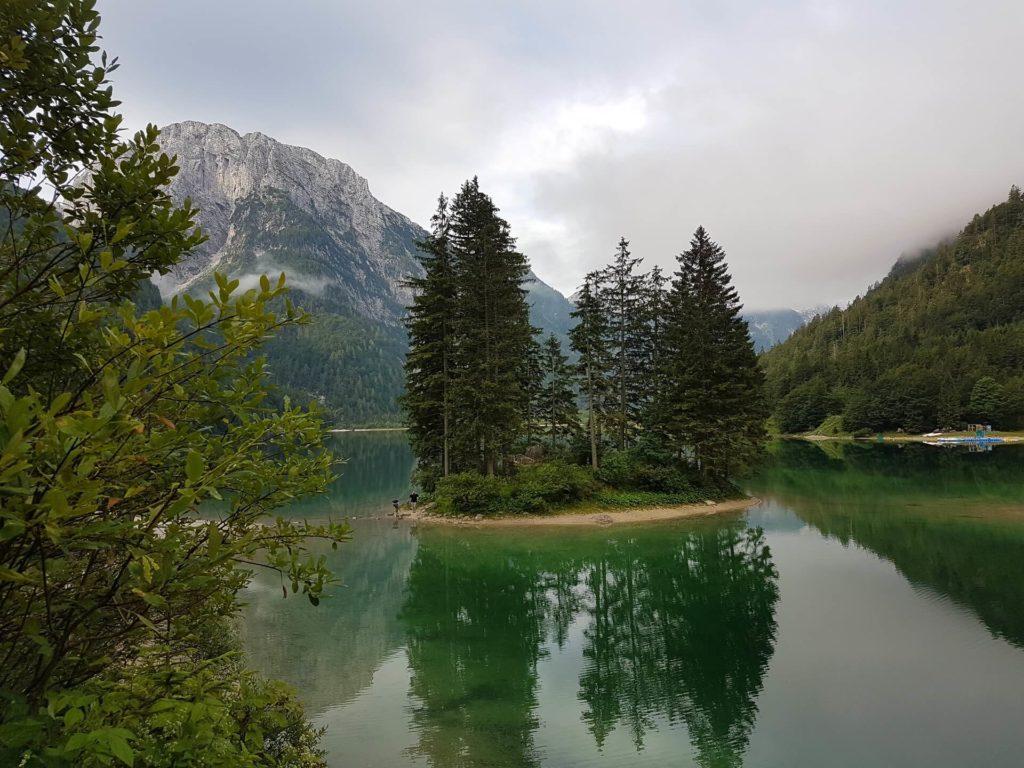 Jezero Predil na italské straně